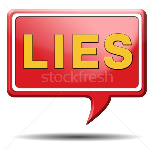 Hazugságok ikon ígéret törik szöveg senki Stock fotó © kikkerdirk