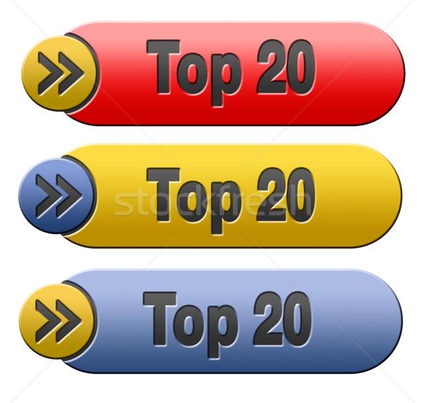 top 20 button Stock photo © kikkerdirk