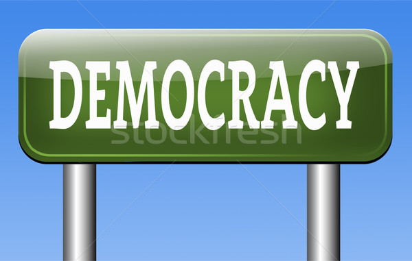 Demokrasi siyasi özgürlük güç insanlar yeni Stok fotoğraf © kikkerdirk
