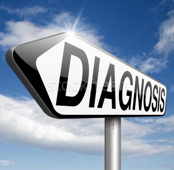 Diagnózis orvosi diagnosztikai vélemény orvos kérdez Stock fotó © kikkerdirk