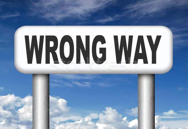 Téves út felirat nagy hiba fordul Stock fotó © kikkerdirk