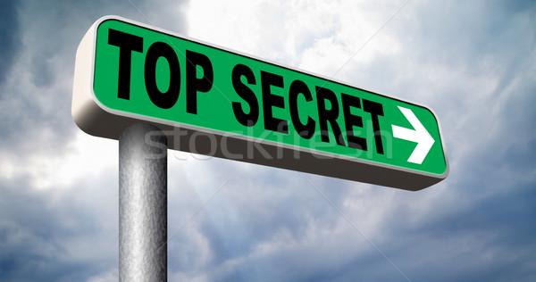 Górę tajne pliku poufny tajność Zdjęcia stock © kikkerdirk