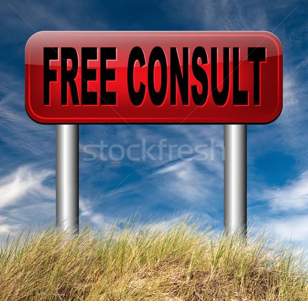 free consult Stock photo © kikkerdirk