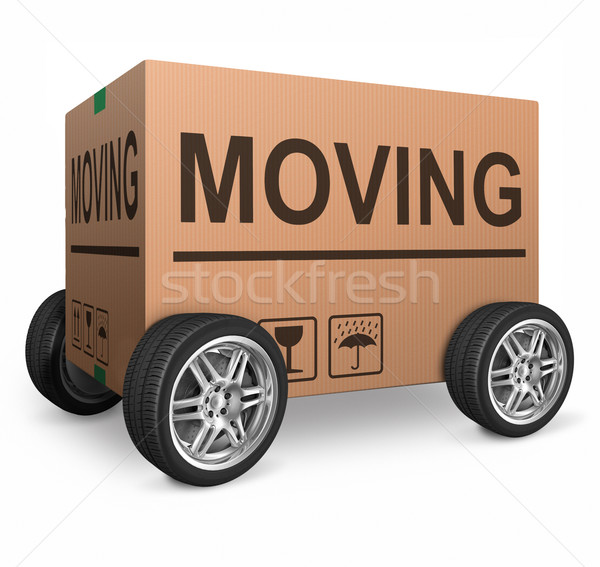 moving box Stock photo © kikkerdirk