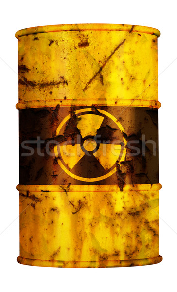 Hordó nukleáris rádió aktív erőmű veszély Stock fotó © kikkerdirk