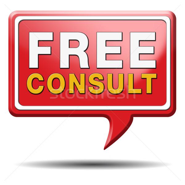 свободный консультации икона консультация бесплатно службе Сток-фото © kikkerdirk