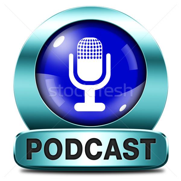 Foto stock: Podcast · ouvir · Áudio · música · viver · córrego