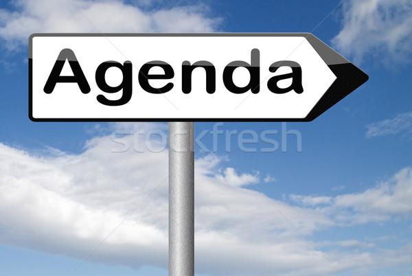 L'ordre du jour tous les jours calendrier affaires calendrier Photo stock © kikkerdirk