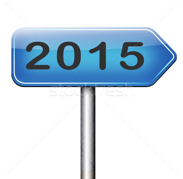 2015 次 年 新しい 開始 ストックフォト © kikkerdirk