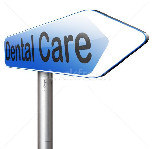 Zahnpflege Zentrum persönliche Hygiene Krankenversicherung Lächeln Zähne Stock foto © kikkerdirk