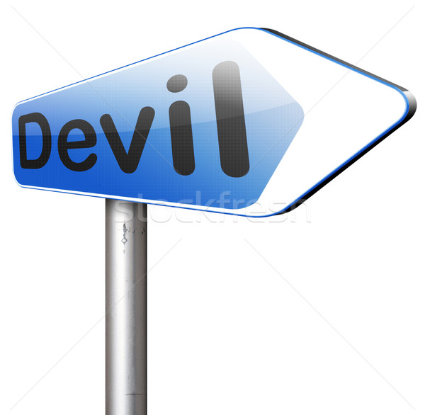 devil temptation Stock photo © kikkerdirk