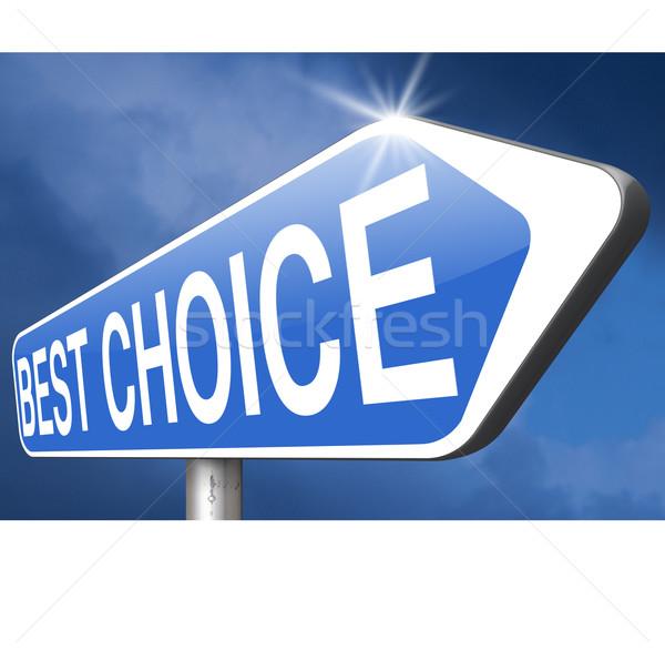 best choice Stock photo © kikkerdirk
