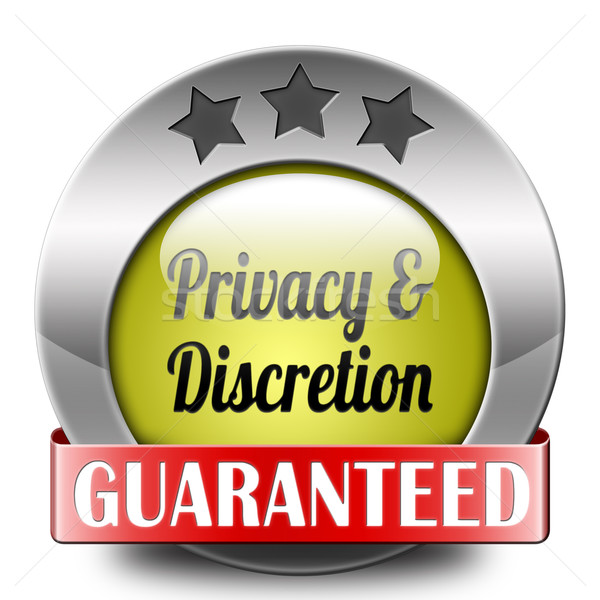 privacy and discretion Stock photo © kikkerdirk