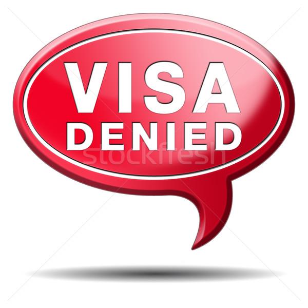 ビザ 移民 スタンプ 国境 税関 ストックフォト © kikkerdirk
