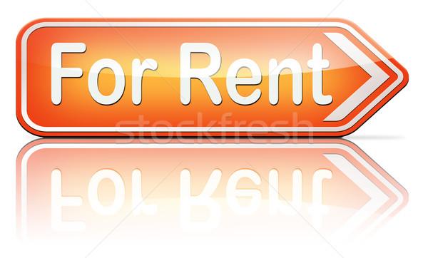 Bérlés felirat ház lakás egyéb ingatlan Stock fotó © kikkerdirk