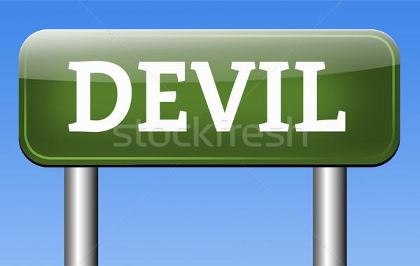 ördög kísértés gonosz sátán égés pokol Stock fotó © kikkerdirk