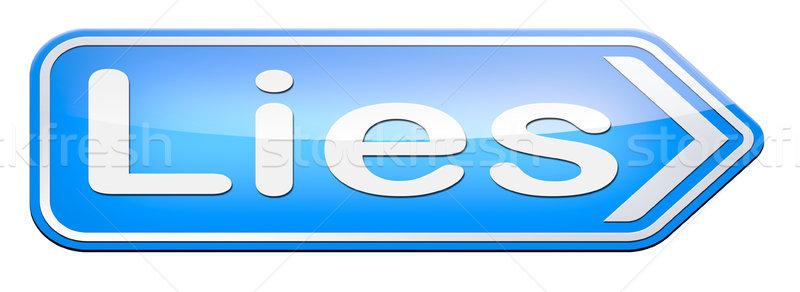 telling lies Stock photo © kikkerdirk