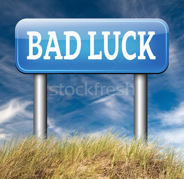 bad luck misfortune Stock photo © kikkerdirk
