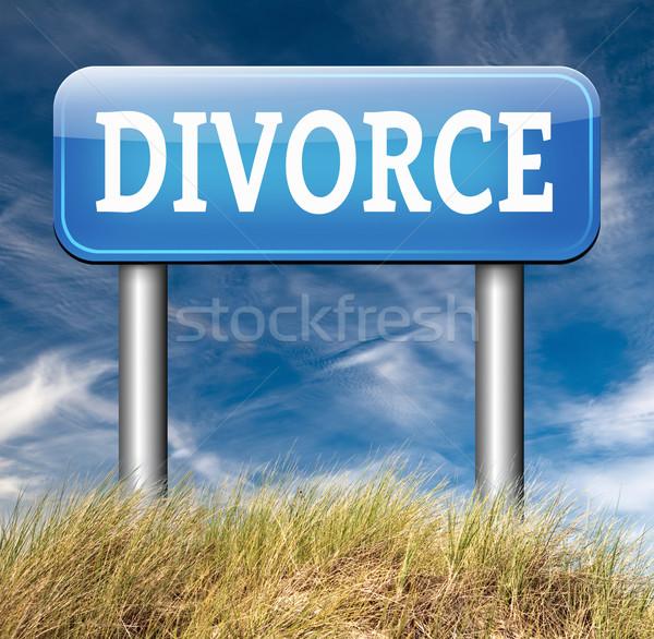 развод документы документа адвокат конец брак Сток-фото © kikkerdirk