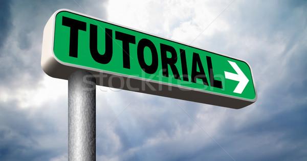 Eğitimi öğrenme öğrenmek çevrimiçi video ders Stok fotoğraf © kikkerdirk