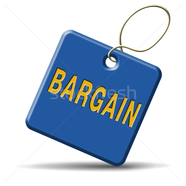 bargain blue placard Stock photo © kikkerdirk