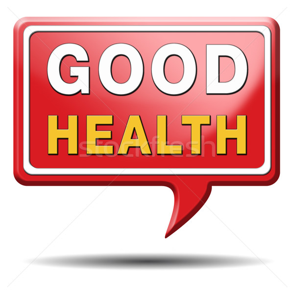 good health sign Stock photo © kikkerdirk