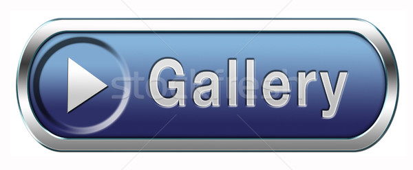 Galerij icon muur foto afbeelding kunst Stockfoto © kikkerdirk