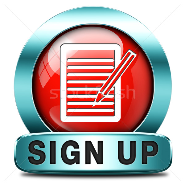 sign up icon Stock photo © kikkerdirk