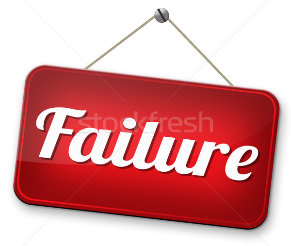 Test mislukking examen poging kan slechte Stockfoto © kikkerdirk