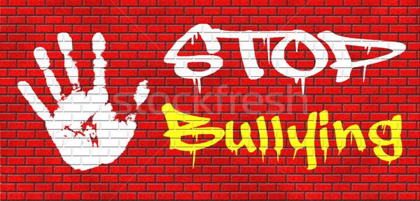 Parada intimidación graffiti no prevención escuela Foto stock © kikkerdirk
