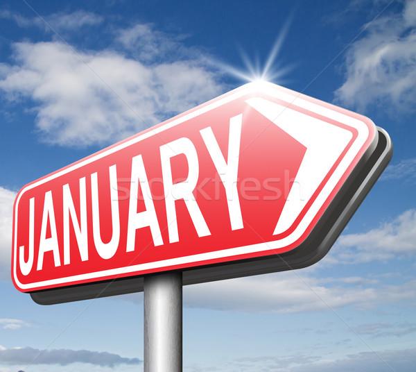 Első hónap következő év téli idény naptár Stock fotó © kikkerdirk