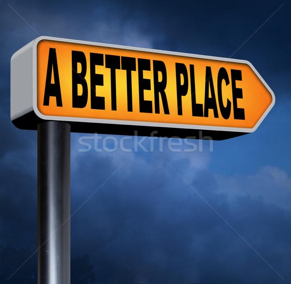 Jobb hely dolgozik apró haladás javít Stock fotó © kikkerdirk