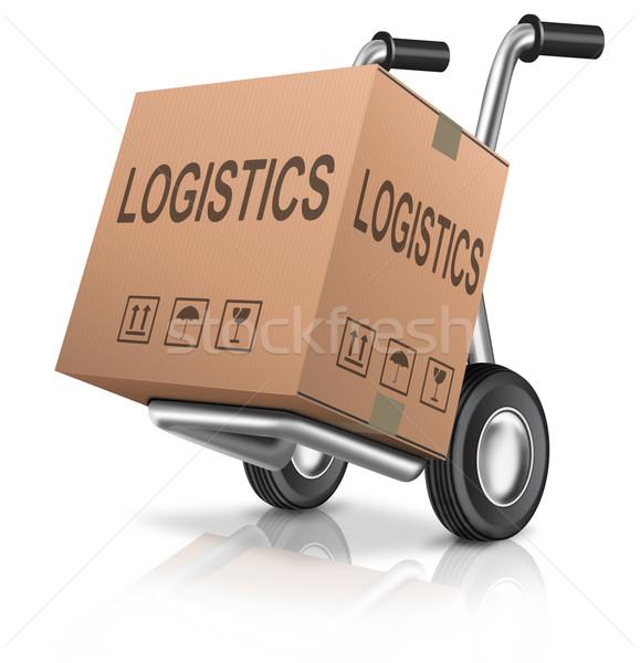 logistics carboard box Stock photo © kikkerdirk