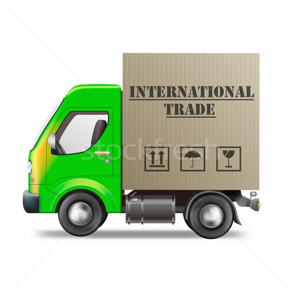 Commercio commercio internazionale camion di consegna esportazione in tutto il mondo Foto d'archivio © kikkerdirk