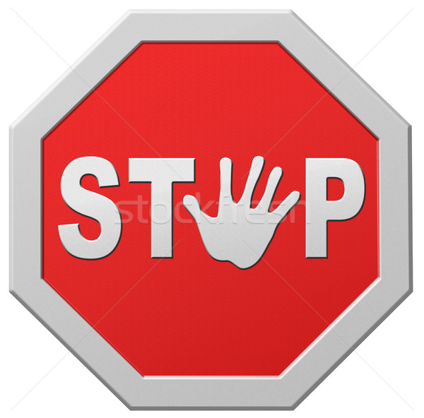stop warning sign Stock photo © kikkerdirk