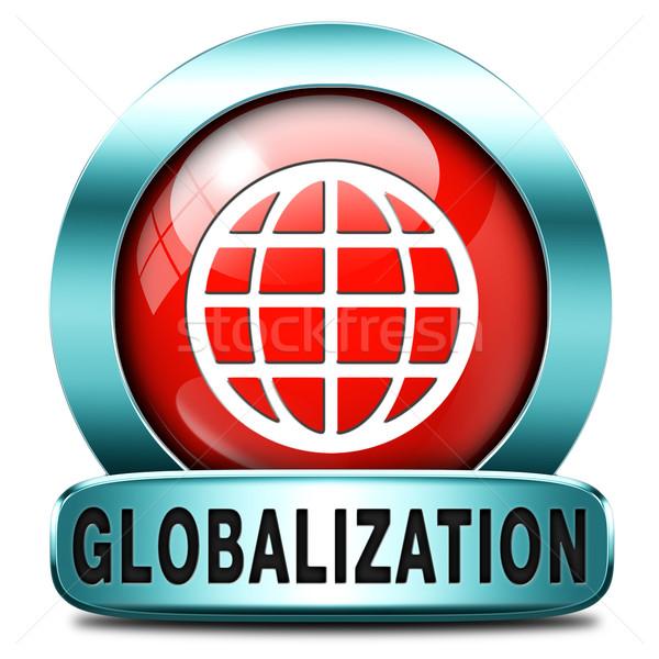 Stockfoto: Globalisering · globale · Open · markt · internationale · wereldwijd