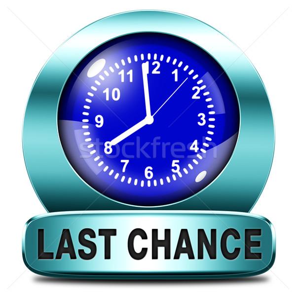Stockfoto: Laatste · kans · finale · gelegenheid · oproep · nu