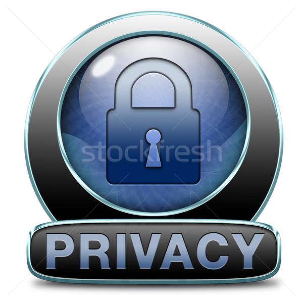 privacy Stock photo © kikkerdirk