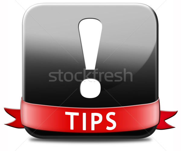 helpful tips button Stock photo © kikkerdirk