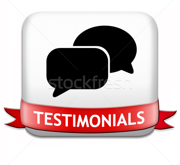 testimonilas button Stock photo © kikkerdirk