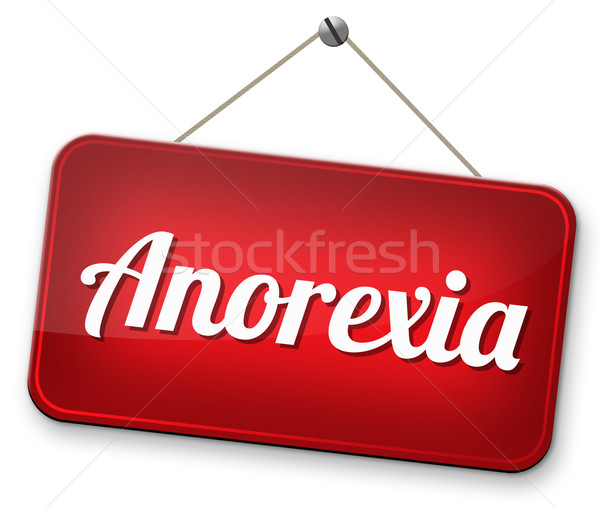 Anorexie manger poids prévention traitement Photo stock © kikkerdirk