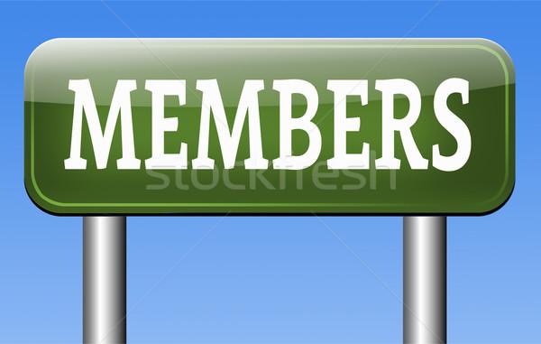 members only Stock photo © kikkerdirk