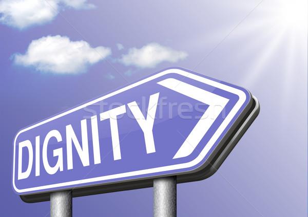 Dignidade auto-estima respeito confiança orgulho assinar Foto stock © kikkerdirk