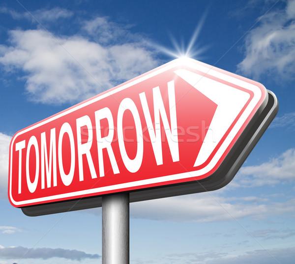 Morgen binnenkort wat toekomst nieuwe begin Stockfoto © kikkerdirk
