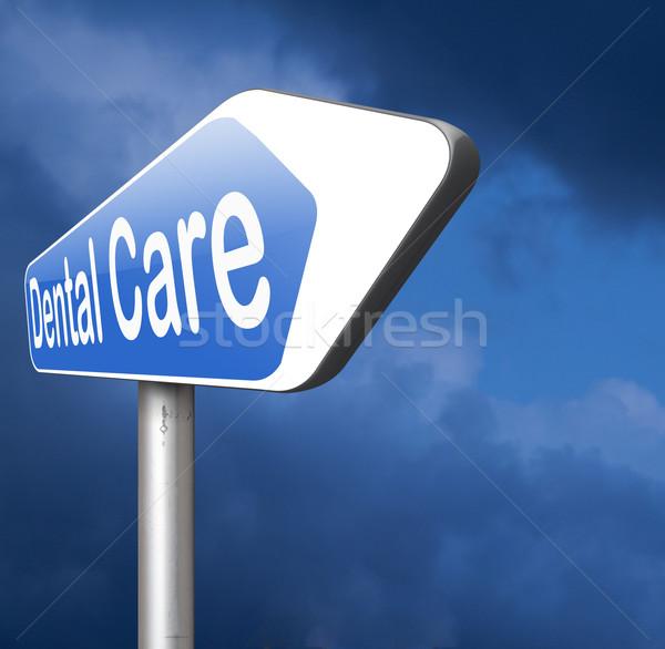 Zahnpflege Zähne Behandlung Chirurgie Krankenversicherung Lächeln Stock foto © kikkerdirk