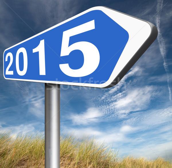 2015 új év következő év új kezdet Stock fotó © kikkerdirk