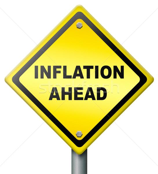 Inflación adelante accidente financieros bancario bolsa Foto stock © kikkerdirk