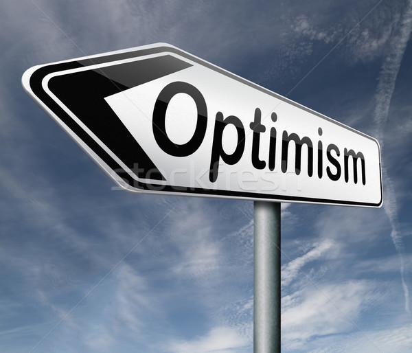 Iyimserlik pozitif düşünme pozitifliği tutum mutlu Stok fotoğraf © kikkerdirk