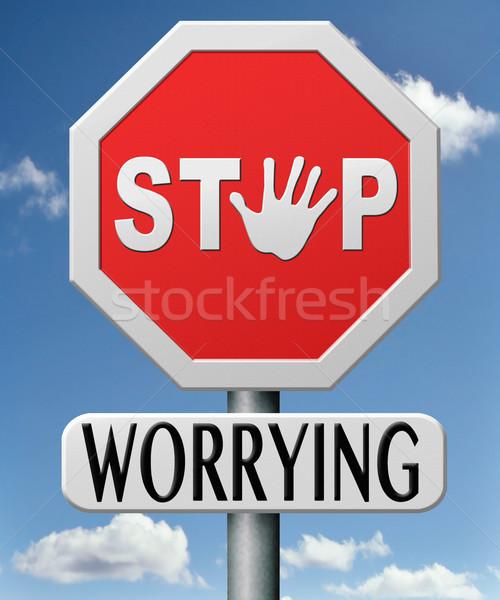 stop worrying Stock photo © kikkerdirk