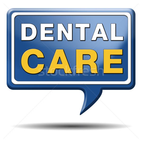 Zahnpflege mündliche Hygiene Chirurgie gesunden Zähne Stock foto © kikkerdirk